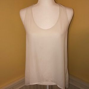 B Jewel Tops - B Jewel Tank Top with Cut Out Back White